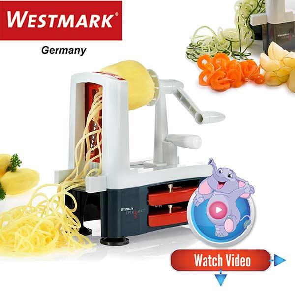 Westmark Spiromat 11332260 Vegetable Spiralizer Cutting