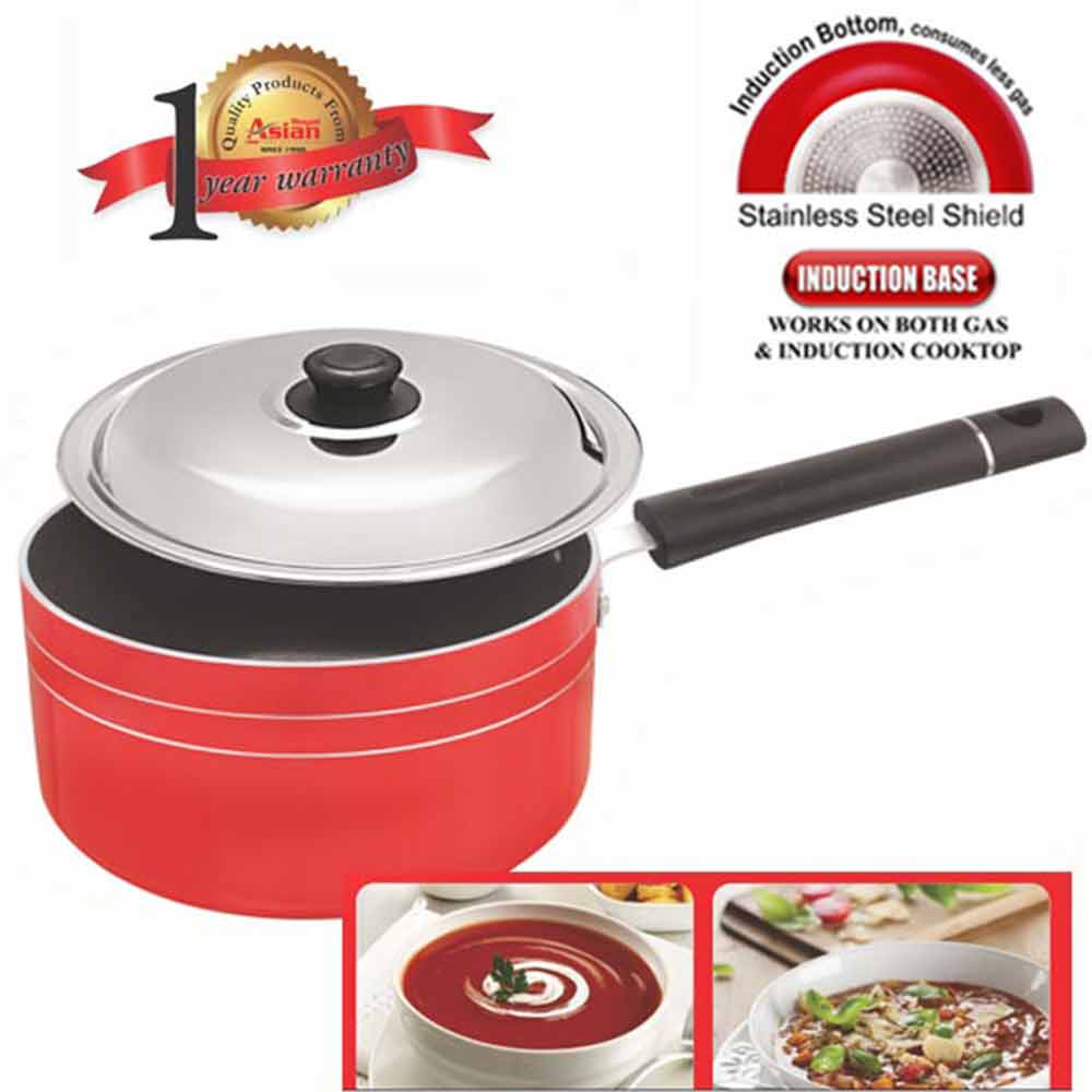 Asian Non Stick Sauce Pan With Induction Base 180 Cm